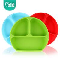 一体式硅胶餐垫 宝宝餐盘吸盘碗餐具套装婴儿童分格盘辅食