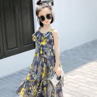 女童连衣裙夏装2018新款韩版公主裙中大童沙滩裙儿童装洋气裙子