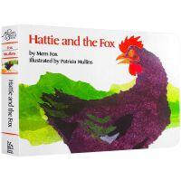 【送咏唱音频】英文原版 Hattie and the Fox 海蒂和狐狸 廖彩杏书单 英文启蒙纸板书撕不烂绘本 亲子教