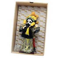 绢人娃娃京剧脸谱摆件中国风特色礼品送老外出国小礼物