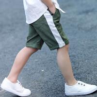 男童短裤夏装五分裤七分裤子夏季儿童中大童薄款外穿棉麻中裤