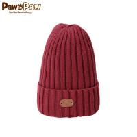 【3件3折 到手价:47】Pawinpaw卡通小熊童装秋冬男女宝宝毛线帽套头帽翻边帽
