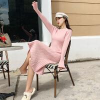 孕妇连衣裙2019秋冬新款长款时尚洋气遮孕肚女装针织裙减龄冬装潮