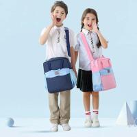 美术包补课书包儿童斜挎包男小学生帆布补习手提拎书袋