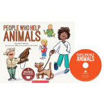英文原版 Cantata Learning: People Who Help Animals 书+CD 歌谣学英文 S