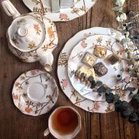茶骨瓷咖啡杯碟套装茶具家用欧式套具陶瓷复古