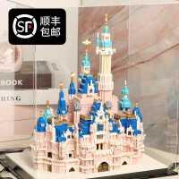 乐高积木女孩子系列微颗粒成人高难度迪士尼益智拼装玩具拼插模型