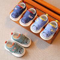 春秋机能婴儿学步鞋幼儿宝宝布鞋子防掉男童幼童小童