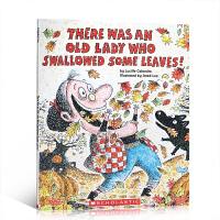 【全店300减100】英文原版 There Was an Old Lady Who Swallowed Some Lea