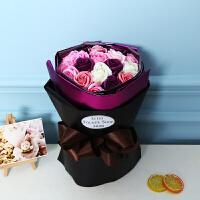 圣诞节情人礼物创意生日实用女生玫瑰花香皂花束礼盒女朋友