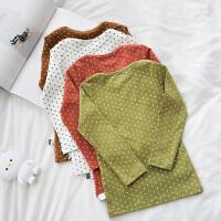 婴童装波点长袖长裤婴儿睡衣分体家居服套装秋冬