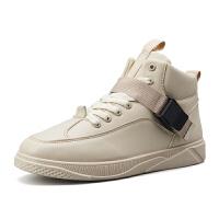 秋季男鞋潮鞋男士高帮鞋子休闲运动板鞋高邦嘻哈韩版潮流学生 百搭
