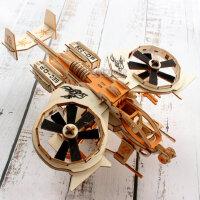 木质飞机模型拼装3d立体拼图男孩儿童手工diy制作益智力木制玩具