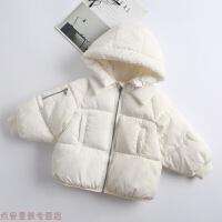 冬季儿童宝宝衣服冬装羽绒男女童婴儿短款棉衣加厚面包服棉袄秋冬新款