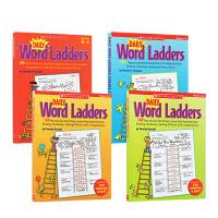 (300减100)【学乐 K-6年级】英文原版 Scholastic Daily Word Ladders 4册合售 词汇练习册 趣味练习 家庭课外学习 英文原版