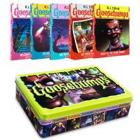 【顺丰速运】英文原版进口小说 Goosebumps 鸡皮疙瘩5册铁盒装 畅销桥梁章节书 英语图书 Scholastic