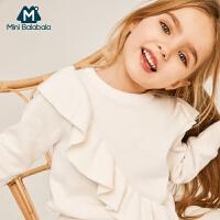 【159元任选3件】迷你巴拉巴拉女童套头毛衣2019春装新品宝宝过年针织衫红色毛衫