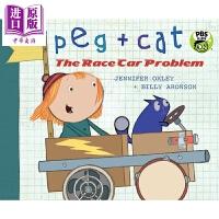 【中商原版】佩格与小猫数学绘本1 Peg + Cat 低幼儿童启蒙绘本 数学启蒙 益智游戏书 英文原版 3-6岁