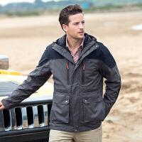 【下单即享7折优惠】TFO 羽绒内胆可拆卸 时尚外套 防水加厚保暖三合一男款冲锋衣