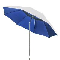 防晒钓鱼伞 防雨地插遮阳伞垂钓伞渔具垂钓用品钓鱼配件雨伞 外银色内蓝色 1.8m