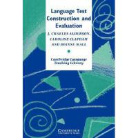 【预订】Language Test Construction and Evaluation