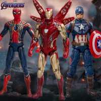 中动漫威复仇者联盟4蜘蛛侠钢铁侠玩具美国队长 手办模型周边3