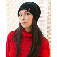 韩版潮流休闲帽子女嘻哈街舞帽户外针织帽 秋冬天保暖毛线帽