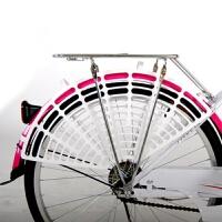 自行车后坐垫山地车配件坐垫载人儿童后座椅后轮防护网