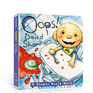 英文原版儿童绘本 大卫纸板书 Oops! A Diaper David shannon book 正版进口获凯迪克大奖绘本