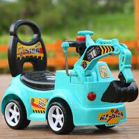儿童扭扭车1-3岁宝宝溜溜车挖掘机四轮玩具车带音乐妞妞摇摆车