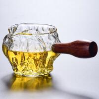 侧把壶玻璃公道杯分茶器功夫茶具配件套装茶海茶杯耐热