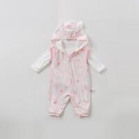 [2件3折价:89.1]戴维贝拉春装新款婴幼儿套装宝宝卡通两件套DBH10022