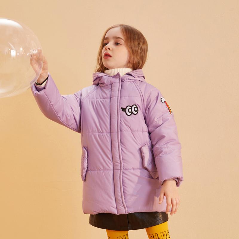 【品类日3件2折:99】巴拉巴拉旗下巴帝巴帝2019年冬女童中大童时尚休闲儿童棉衣棉服保暖