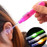 10个装发光耳勺日本带灯挖耳勺 婴儿儿童宝宝耳勺可视掏耳勺