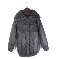 O04061冬季新款韩版简约单排按扣翻边领显瘦百搭女纯色羽绒服