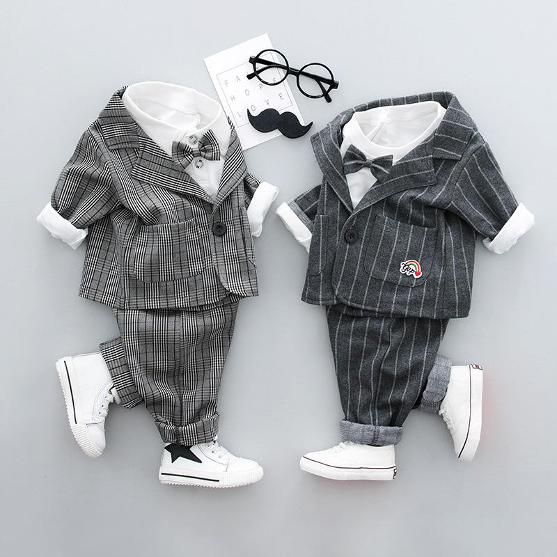 2018春装婴儿幼儿绅士礼服周岁0-1岁3男童儿童宝宝小西装三件套装 发货周期:一般在付款后2-90天左右发货,具体发货时间请以与客服协商的时间为准