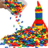 火箭子弹头桌面积木玩具益智儿童拼插塑料幼儿园3-6-7-8周岁男孩