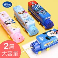 迪士尼文具盒男小学生笔盒男童创意汽车造型铅笔盒二层铁笔盒幼儿园儿童文具盒米奇冰雪奇缘女创意大容量