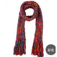 时尚冬天韩版女士可爱围巾韩国秋冬季保暖毛线围巾厚