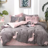 四件套珊瑚绒冬季双面床上用品被套床单