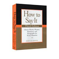 如何表达 How to Say It 英文原版书籍 实用英语作文书词汇写作应用文书信英文版 如何与外国人交谈等参考书提高
