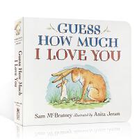 英文原版绘本 Guess How Much I Love You 猜猜我有多爱你正版纸板书点灯人启蒙入门0-3-5-6