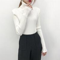 高领毛衣女士秋冬季套头长袖百搭短款新款修身紧身针织打底衫加厚