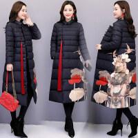 冬装女中长款过膝棉衣复古中国民族风宽松显瘦棉袄子