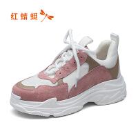 红蜻蜓 2018新品原宿时尚潮流运动跑步休闲板鞋女老爹鞋