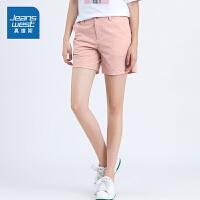 [秒杀价:55.1元,年货节限时抢购,仅限1.15-19]真维斯女装 2019夏装新款 修身四面弹力休闲短裤