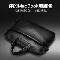 包邮支持礼品卡 苹果笔记本13寸 电脑包 真皮 Macbook 15英寸 手提 轻薄 商务 公文包