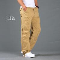 秋季休闲裤男直筒宽松长裤潮户外工装裤长裤大码多口袋运动裤