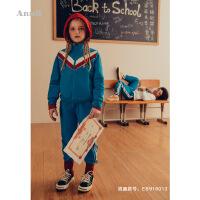 【2件35折:223.65】安奈儿童装女童运动休闲套装立领国潮春装新款中国风学生服
