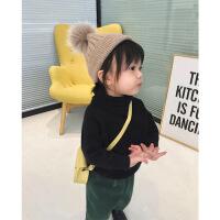婴童装冬装儿童高领针织打底衫女小童宝宝内搭套头毛衣宽松